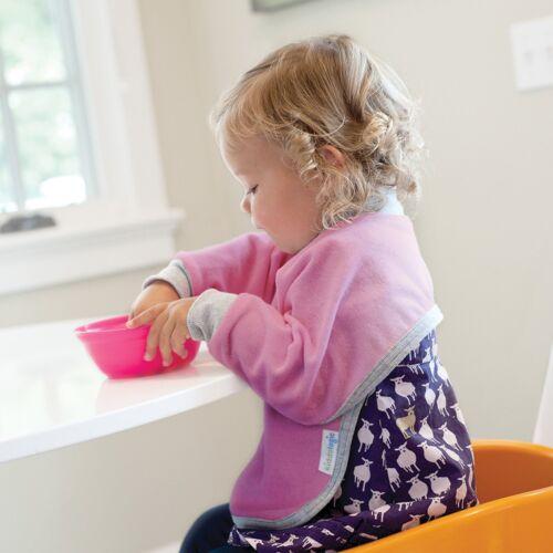 Kiddologic bibit-all Long Sleeved Waterproof Baby Bib Full Coverage Pullover