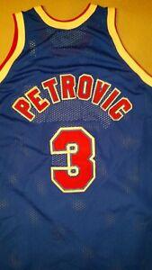 e266c80db7a Drazen Petrovic Mitchell & Ness Nets 1992-93 NBA Basketball Jersey ...