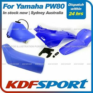 KDF-PW80-PLASTIC-FENDER-COVER-BLUE-SEAT-TANK-FOR-YAMAHA-PW80-AFTERMARKET-PARTS