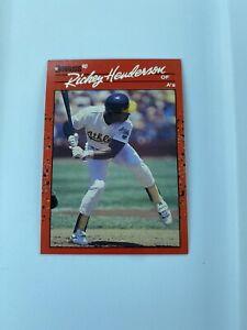 "RICKEY HENDERSON  1990 Donruss No Dot After ""Inc"" Error Card HOF"