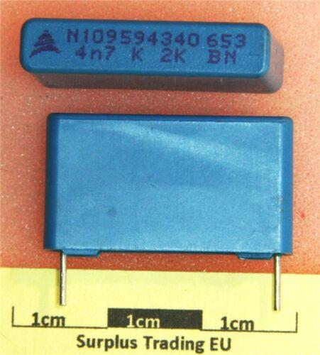 Vishay 4n7F 2000V Radial Condensador pk de 2