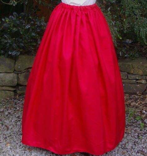 Edwardian costume SKIRT gentry Ladies Victorian ball gown fancy dress red