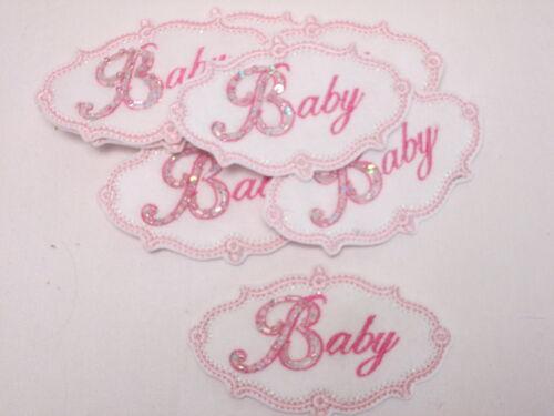 Ensemble de 10 photos rose brodé bébé fabrication carte artisanat motifs correctifs # 12d213