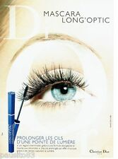 PUBLICITE ADVERTISING 126  2000   Dior  maquillage  yeux mascara