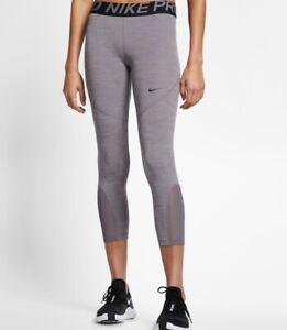 Nike Pro 7/8 Training Compression Tights AO9970-063 Grey Medium Womens New
