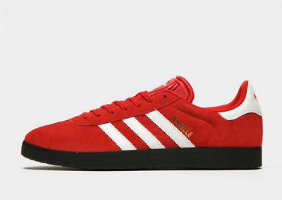 NEW Adidas Gazelle Mens Trainers Red