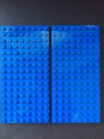 Lego Blue Plates 8x16 Blue Base Plate 5x2.5 Floor Roof 8 X 16 Lot Of 2