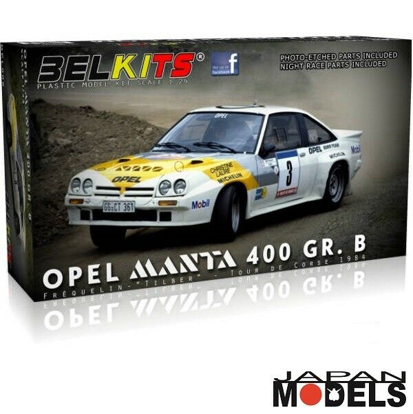 OPEL MANTA 400 GR.B Frequelin Tilber Tour De Course 1984 Belkits 1 24 Model Kit