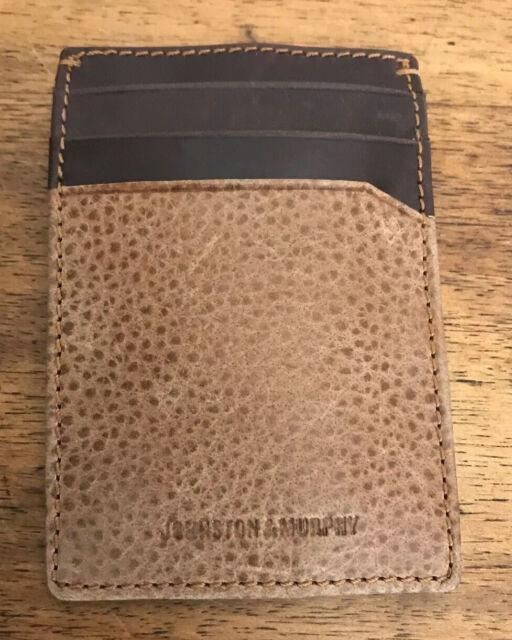 Murphy Visa Card >> Johnston Murphy Leather Weekender Wallet Brown Credit Card Slim Case