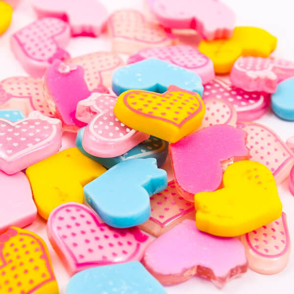 Heart Bow Polka Dot Clear Resin Flatback Cabochons Scrapbooking DIY Craft R0094