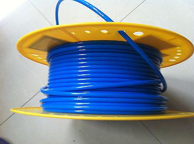 Tube PU Pneumatic Hose 4mm x 6mm for pneumatics 25meter Blue color