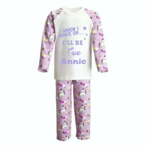 Personalised Childrens Pyjamas when I wake up I will be 1 2 3 4 5 6 7 8