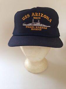 Vintage USS ARIZONA Pearl Harbor BB-39 Hat Cap One Size SnapBack  7b41b5f0ae2b