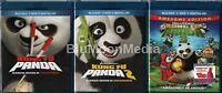 Kung Fu Panda 1 2 3 Blu-ray / Dvd / Digital Copy Complete Collection Lot