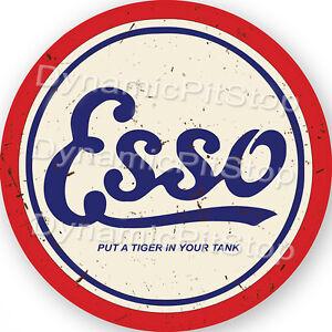 Retro Garage Bar Vintage 60cm Castrol Round Rustic Tin Sign Man Cave