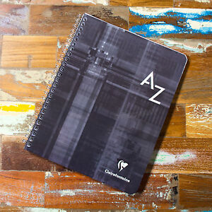 Details about Spiral A5+ A-Z Tab Seyes Grid 100 Page Index Book Paper  Notebook Organiser Pad