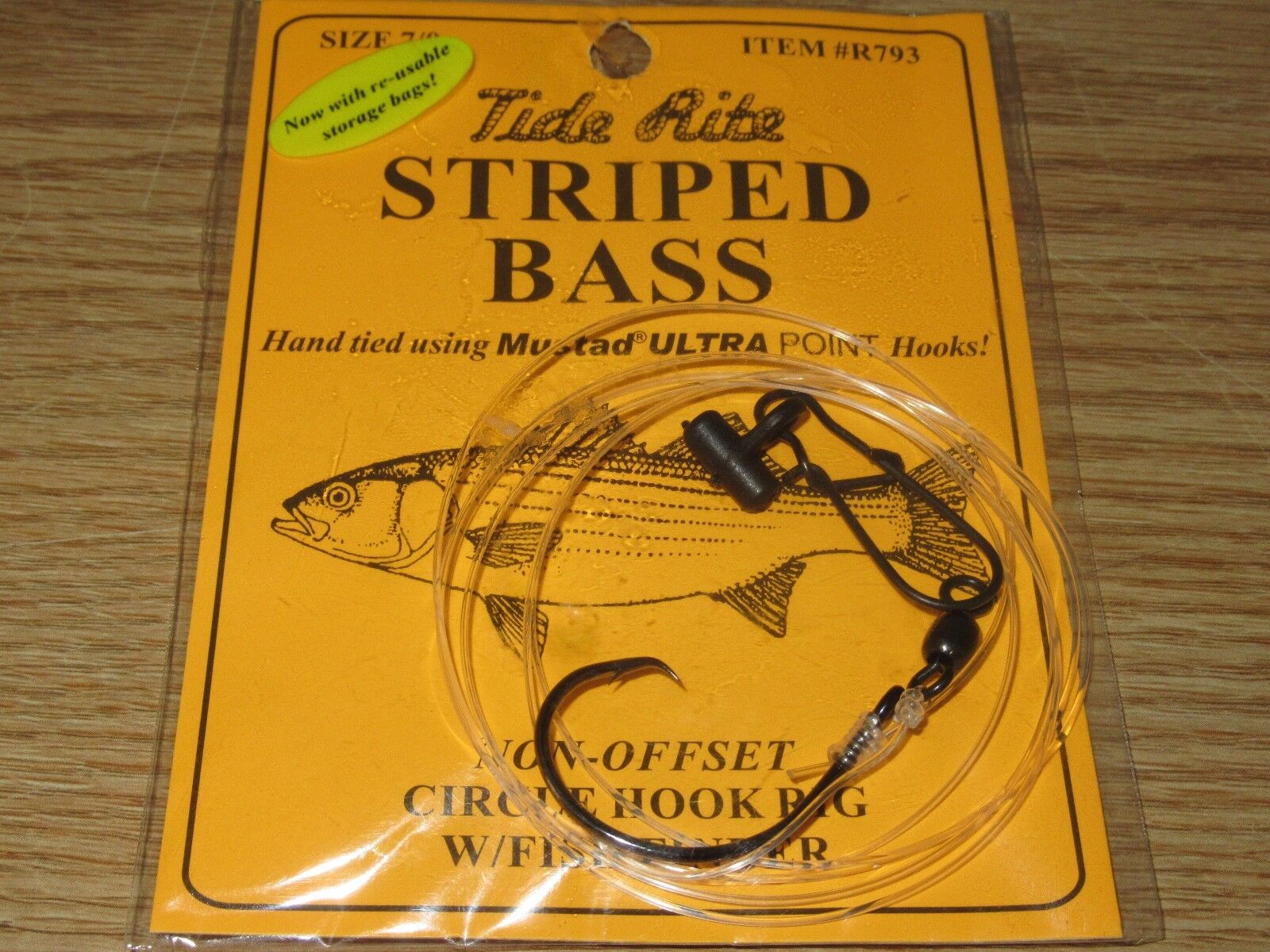 24 STRIPED BASS TIDE RITE R793 CIRCLE HOOK FISH FINDER RIG SALTWATER FISH RIGS
