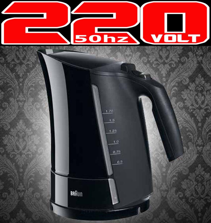 marron WK500 Sans Fil Bouilloire électrique 220 V UE européenne Voltage Power Plug