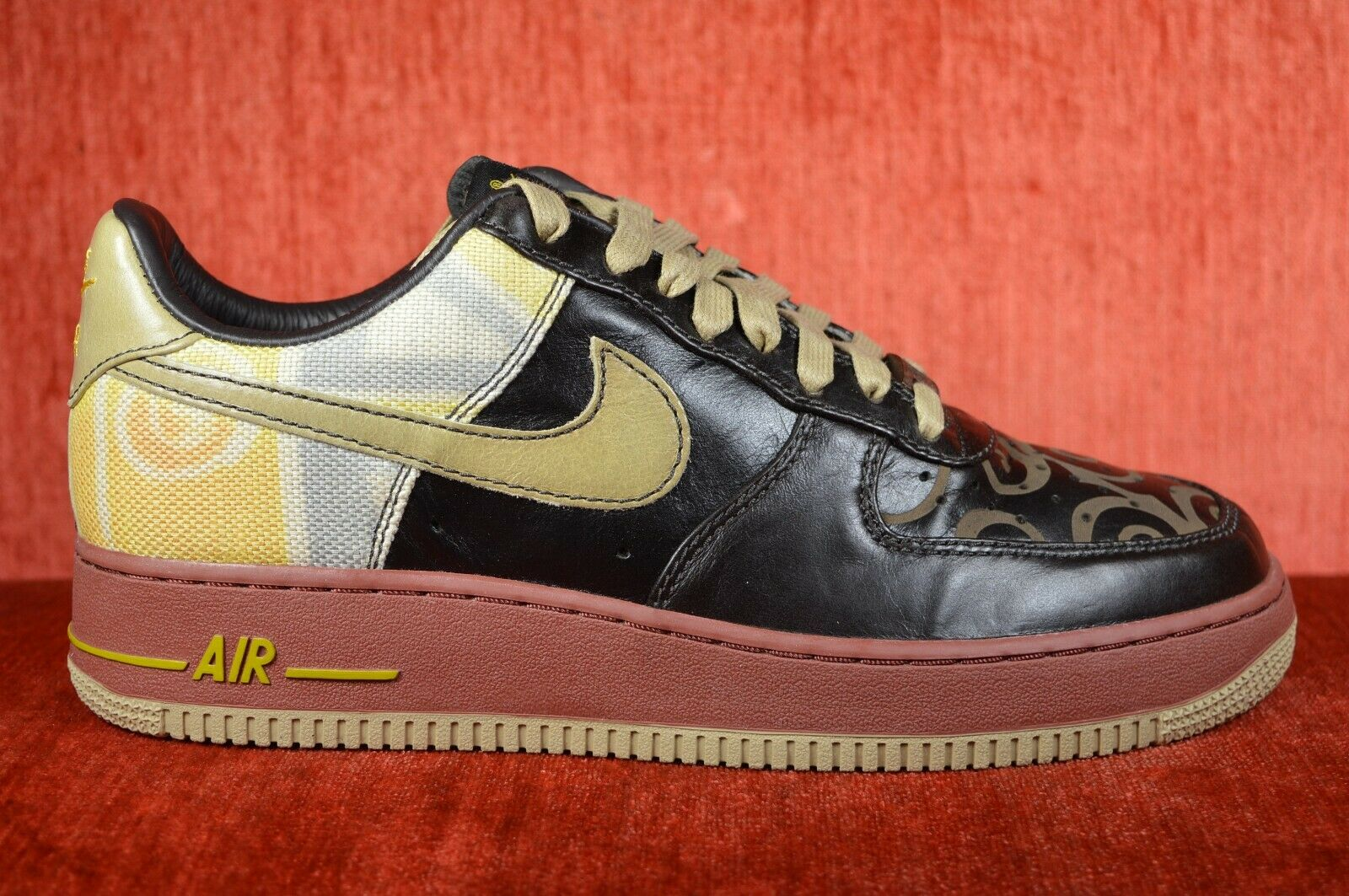 NEW Nike Air Force 1 Low Premium BHM Black Size 9 315180-021 Promo Sample Leathe