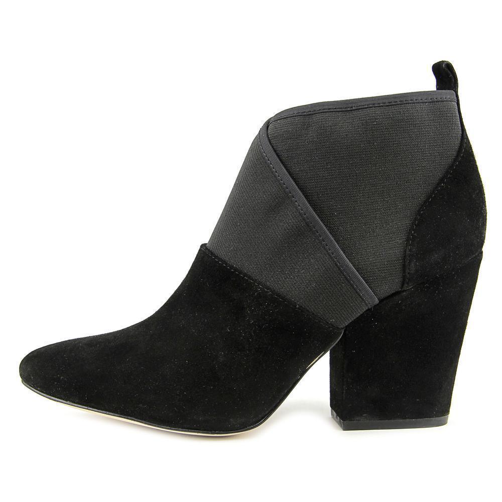 Calvin Klein Zella Kid Black Suede Career/Casual Ankle Booties Sz 6 MSRP 179.99