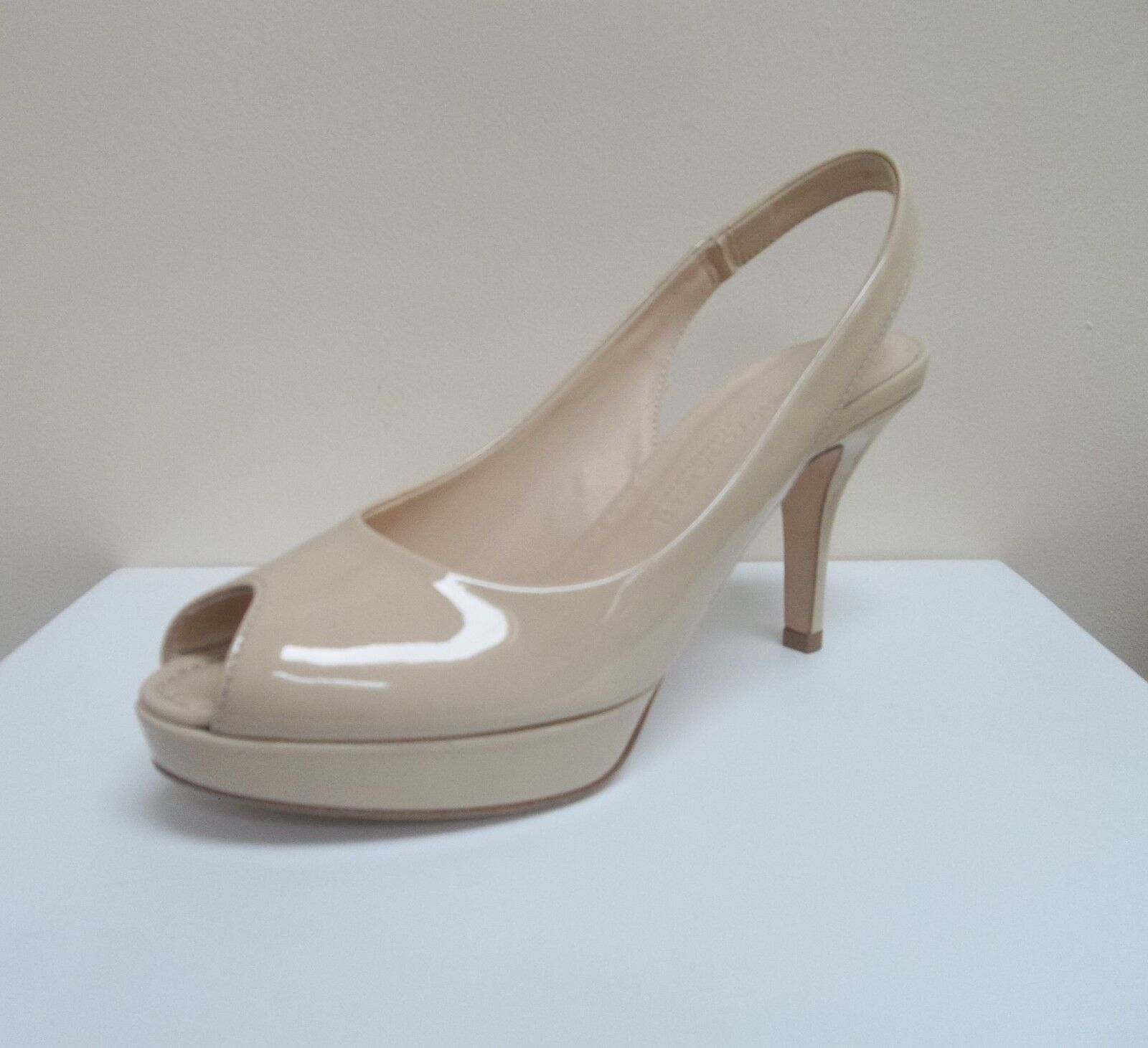 K&S Rose nude patent peep toe platform slingbacks,UK BNWB 4.5/EU 37.5,   BNWB slingbacks,UK 6f07d9