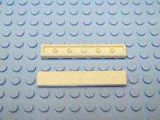 New New Flat Tile 1x6 White 4 x lego 6636 Plate Smooth White