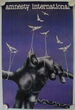 Affiche AMNESTY INTERNATIONAL 1982 D. LE COZ