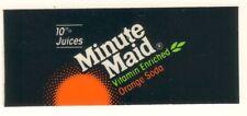 "Minute Maid Orange Vending Machine Insert, Sun Logo, 1 3/8"" x 3 3/8"""