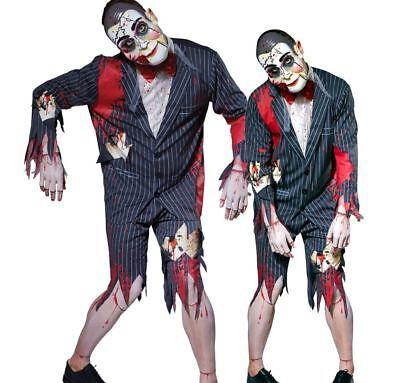 18dfbee59 Mens PUTRID PUPPET MASTER Halloween Fancy Dress Costume Ventriloquist Dummy  Male | eBay