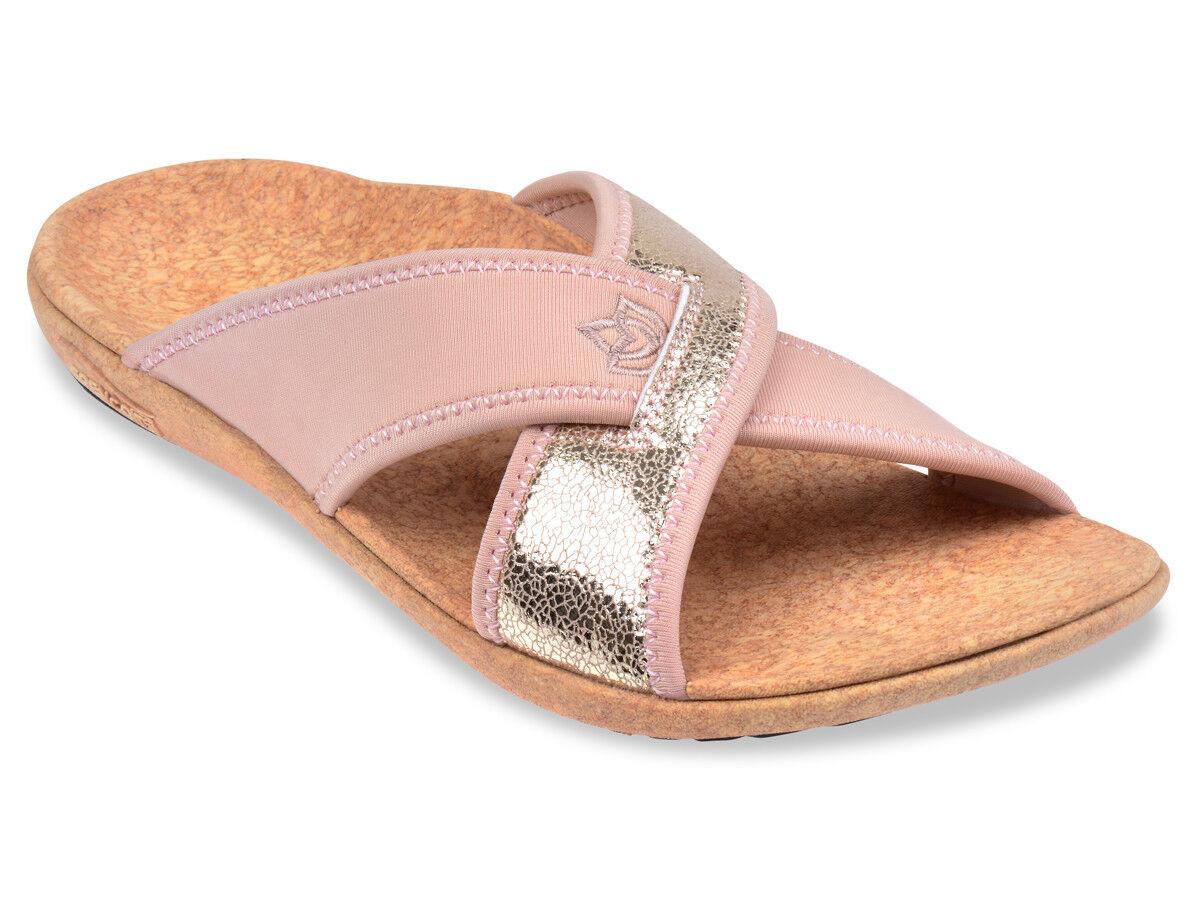 Women's Spenco Total Support Orthotic Lingo Slide Sandals pink Sz 8