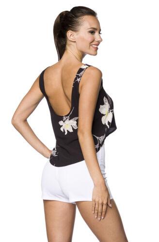 Hipstylers Donna Top Shirt Nero Bianco 36//38 40//42 Pancia Libera Mullet