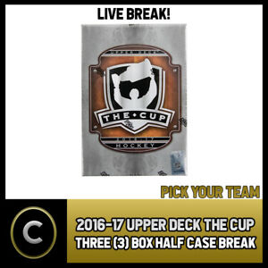 2016-17-UPPER-DECK-THE-CUP-3-BOX-HALF-CASE-BREAK-H222-PICK-YOUR-TEAM