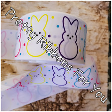 "Easter Bunnies 5//8/"" wide grosgrain ribbon the listing is for 5 yards"