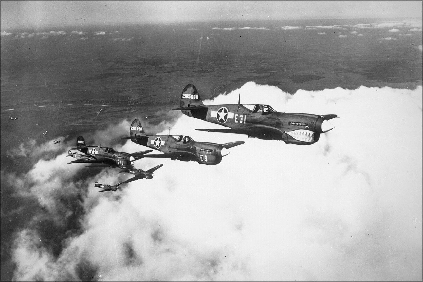 Poster, Many Größes; Shark-Nosed P-40 Warhawk Fighter Aircraft 1943