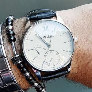 l'atteggiamento migliore c1ccb 626b0 MIGEER 314 ELEGANTE originale cinturino orologio pelle uomo ...