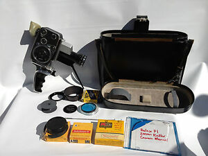 Bolex-Paillard-P1-Zoom-Reflex-8mm-Movie-Camera-Berthiot-Cinor-Handle-Case-Filter