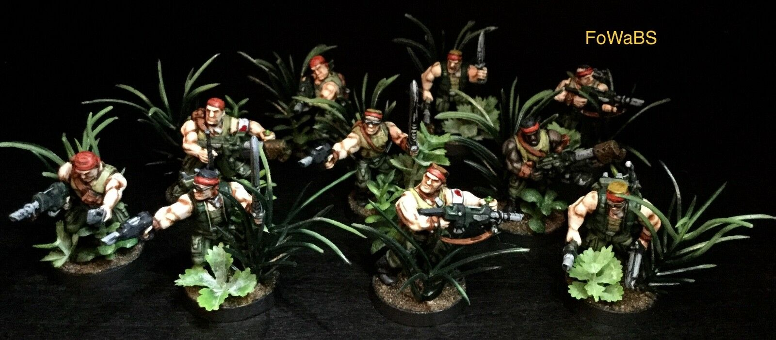 Warhammer 40k Catachan Devils peint par Faces of War at Bulldog studios