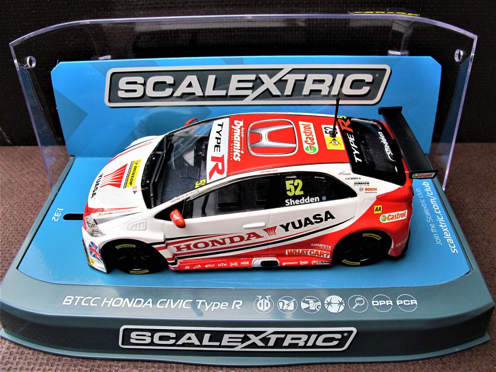 Scalextric    Honda Civic Type R   N° 52    BTCC 2015     Ref.  C3783    Viele Stile  8c88cc
