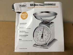 Polder-Professional-11-Pound-Stainless-Steel-Kitchen-Scale-SHELF-PULL