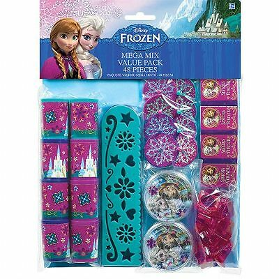 Licensed Disney Frozen 48pc Birthday Party Favor Pack loot bag Supply filler kit