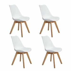 Outstanding Details About Set Of 4 Tulip Dining Office Chair Dining Chairs Kitchen Chairs White Retro Home Pabps2019 Chair Design Images Pabps2019Com
