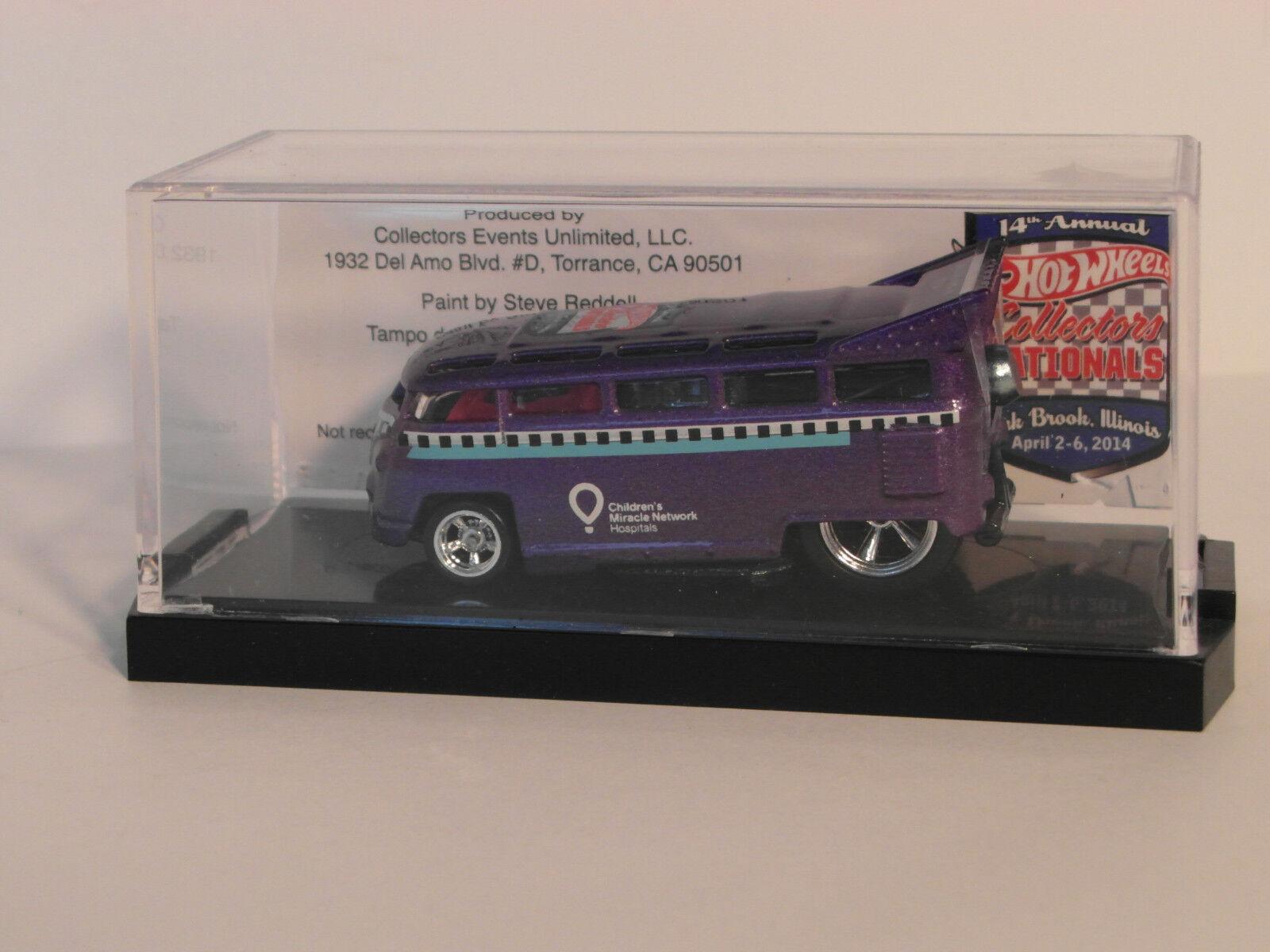 Hot Wheels 14th Collectors Nationals viola VW T1 Drag Bus Bingo Game Winner