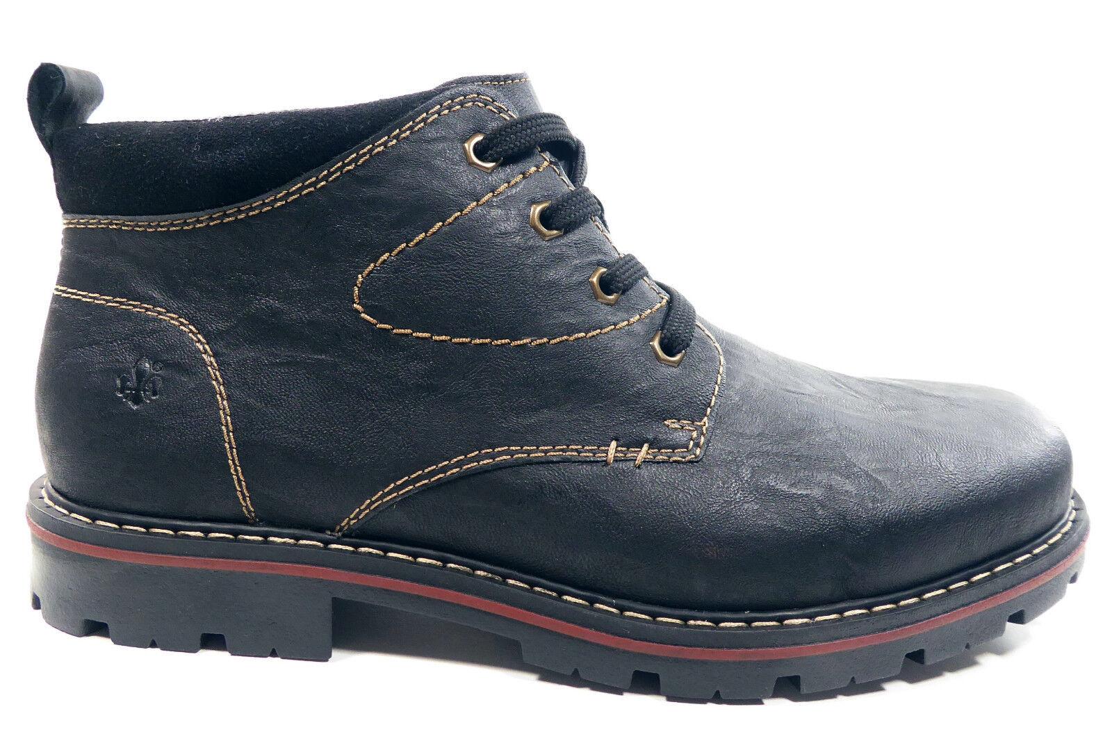 Rieker Herrenhalbschuhe Stiefeletten Boots in Schwarz 37700-01