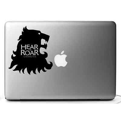 STICKERS GAME of THRONES  ADESIVI MAC - MACBOOK  PRO AIR 11,13 15 17'' LANNISTER