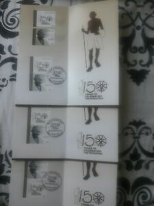 UAE-2019-Mahatma-Gandhi-150-years-3-Brochure-with-stamps-First-Day-Cancellation