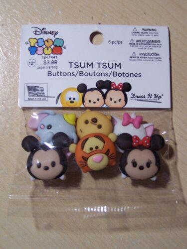 Disney-Tsum Tsum-Dress It Up Botones-Artesanía 6 piezas