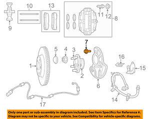 5012436AB Jeep CHRYSLER OEM Brake-Front-Backing Plate Dust Splash Shield Bolt
