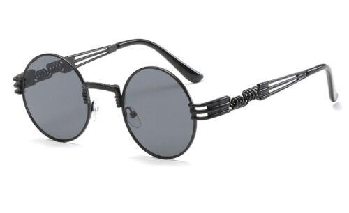 Retro Gothic Steampunk Mirror Sunglasses Men Gold and Black Sun Glasses  Fancy S