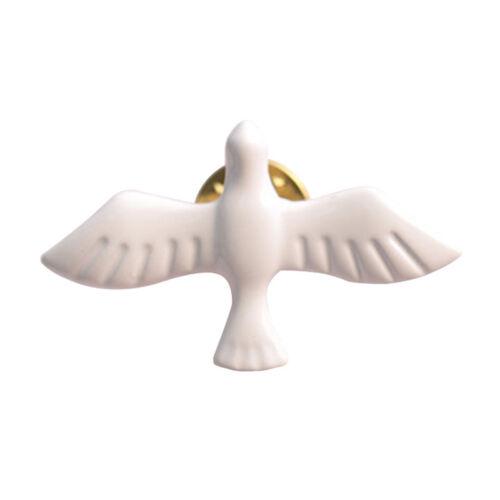 New White Dove Enamel Metal Lapel Pin Badge Groom Wedding Peace Love Brooch Z