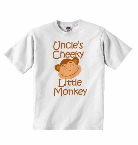 Tío Cheeky pequeño mono-nueva Camiseta Bebé Ropa Para Chicos chicas Tees